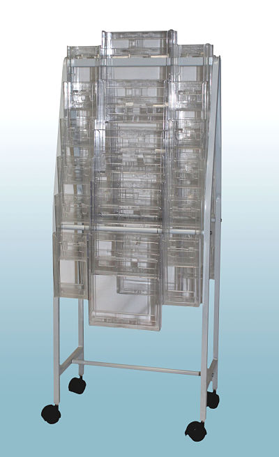 Brochure Trolley with 24 Trifold Holders & 10 A4 Holders          OUT OF STOCK