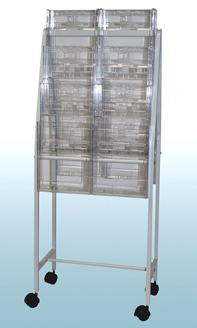 Brochure Trolley with 16 A4 Holders          OUT OF STOCK