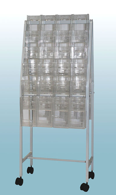 Brochure Trolley with 48 Trifold Holders          OUT OF STOCK