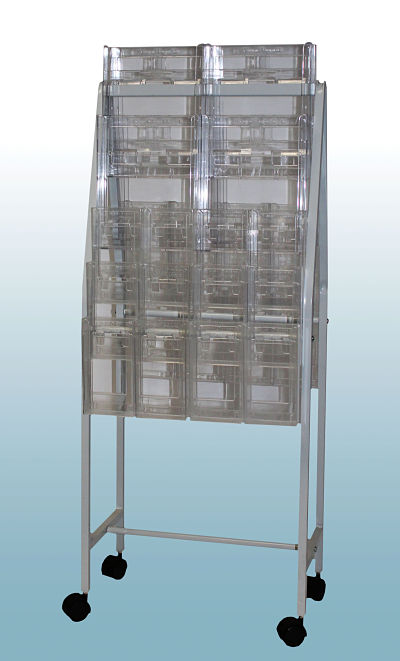 Brochure Trolley with 24 Trifold & 8 A4 Holders          OUT OF STOCK