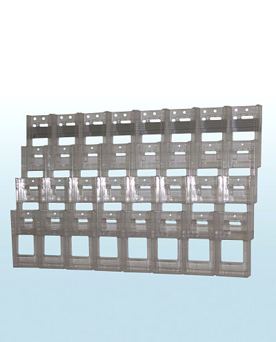 Wall Display with 32 Trifold Holders