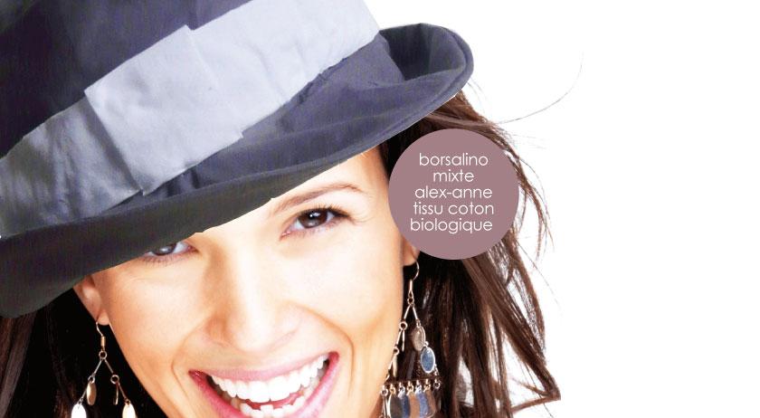 Réalisez votre BORSALINO TENDANCE avec les tissus biologiques Les Trouvailles d'Amandine retrouvez tous les tissus biologiques sur la ESHOP www.lestrouvaillesdamandine.com
