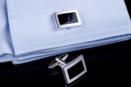 luxury smart cufflinks on shirt cuffs