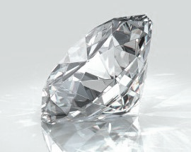 Beautiful image of single cut diamond