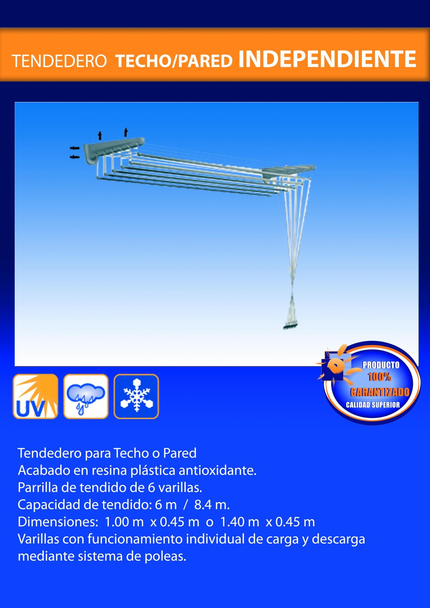 Tendedero de techo/pared independiente