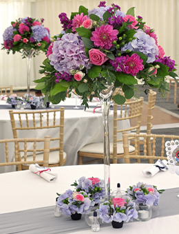 Bright Country Style Wedding Flowers Marquee