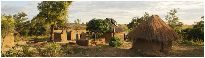 village in kaolomo  southen zambia