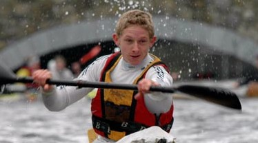 past student in canoe