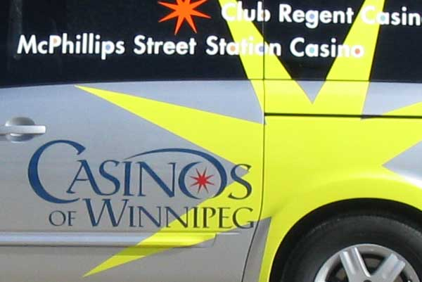 Casinos of Winnipeg van graphics