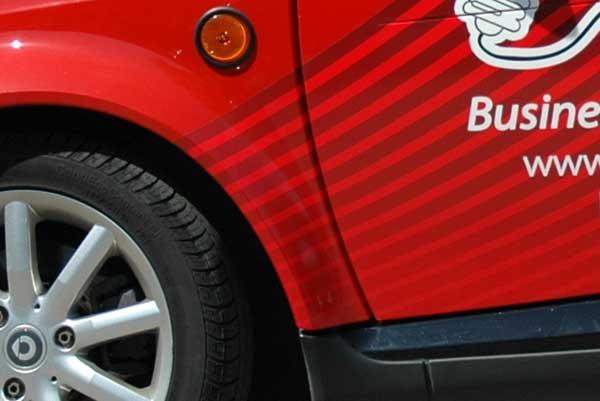 CRM Smart Car wrap