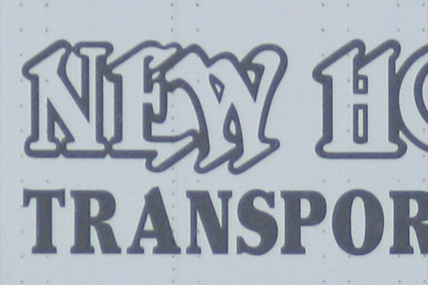 New Hope Transport trailer lettering
