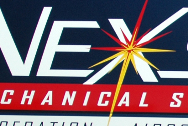 Nexstar Mechanical van graphics