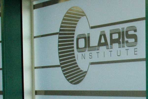 Olaris window graphics and etching