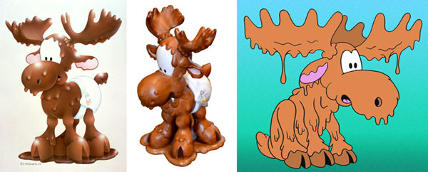 Too Loose the Chocolate Moose ceramic figure and model sheet