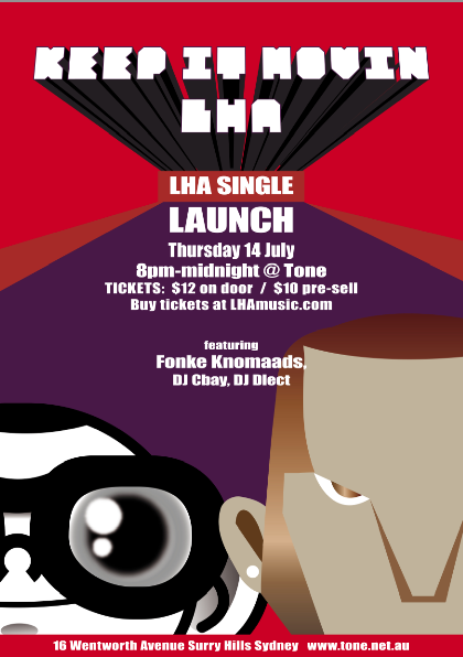 LHA Launch Poster Thurs 14th July Tone Surry Hills