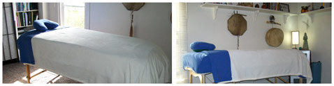 Two views of Linda S. Wahlund's reiki room