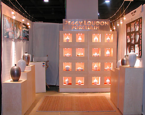 A display of Louden ceramics