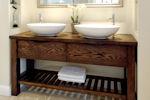 Handmade Free Standing Oak Bathroom Wash Stand in St Albans