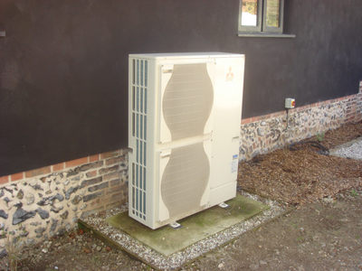 Air Source Heat Pump in Thorndon Suffolk