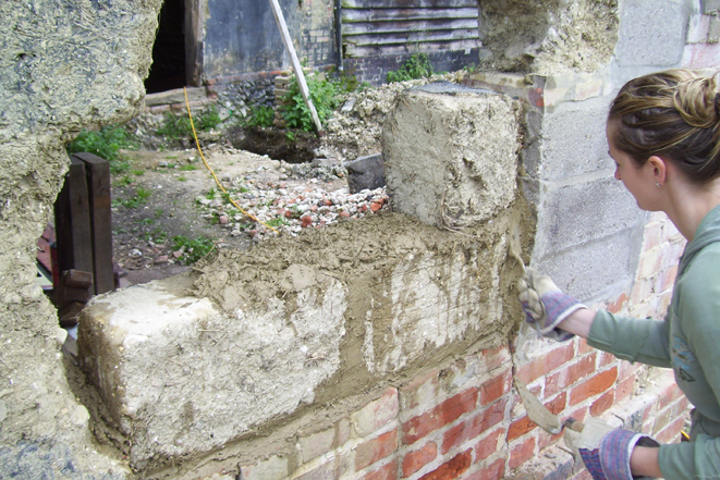 Suffolk Barn clay lump repairs